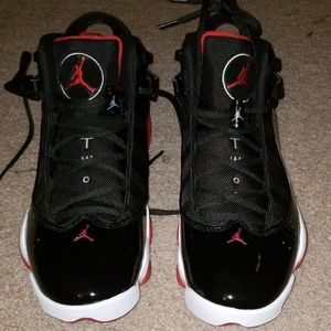 Jordan six rings Black/Varsity Red/White